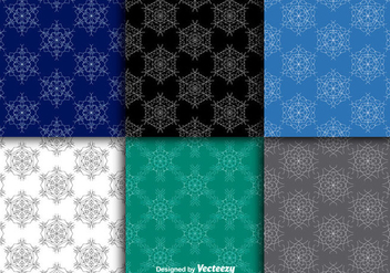 Snowflakes seamless patterns - vector gratuit #281055