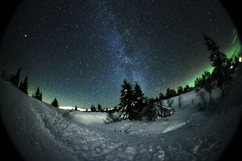 Milkyway as seen from Trysil shot with samyang 8mm fisheye - Free image #285895