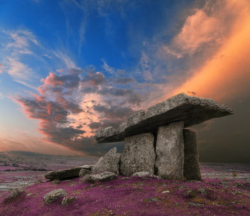 Poulnabrone Dolmen Sunset - Lavender Fantasy - Kostenloses image #290295