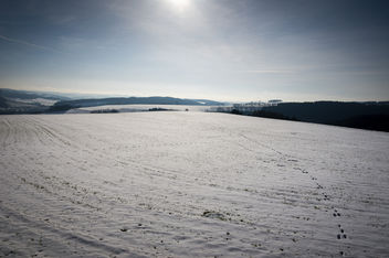 a field with snow - Free image #290885