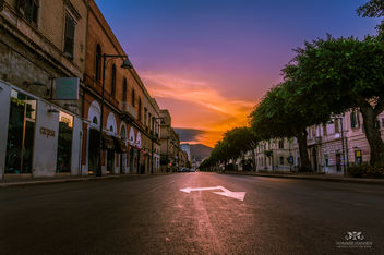 Sunrise at street in Trapani, Sicily (Italy) - Free image #291095