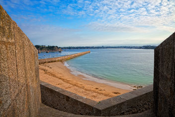 Saint-Malo Beach Scenery - HDR - Kostenloses image #291195