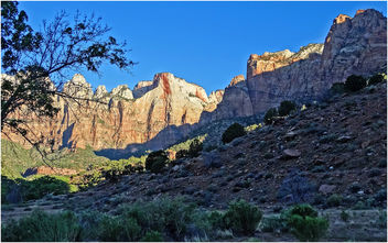 Altar of Sacrifice Sunrise, Zion NP, West End 5-2-14d - Free image #292505