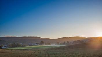 Sun rising over Lommedalen - бесплатный image #294005