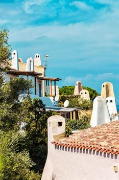 Roofs of buildings in Porto Cervo, Sardinia, Italy - бесплатный image #297495