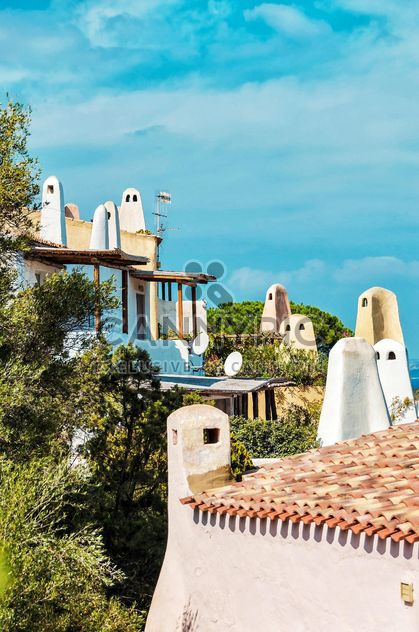 Roofs of buildings in Porto Cervo, Sardinia, Italy - Free image #297495