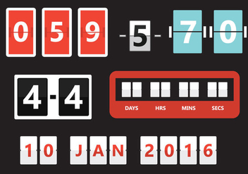 Number Counters in Vector - vector #297665 gratis
