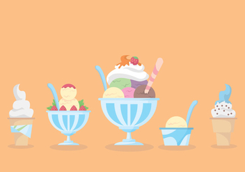Snow Cone Cup Vector Set - бесплатный vector #297705