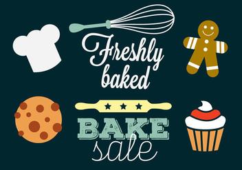 Bakery Vectors - vector gratuit #297725
