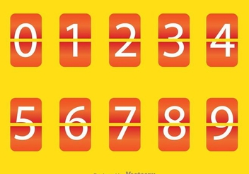 Orange Round Square Number Counter - vector gratuit #297945