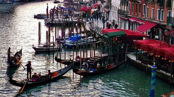 Gondola boats in Venice - Free image #301425