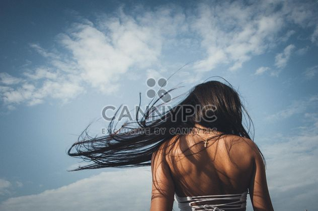 Rear view of girl with flying hair - Free image #301565