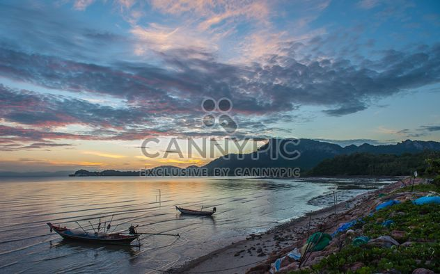 fishing boats moored on the coast - Free image #301595