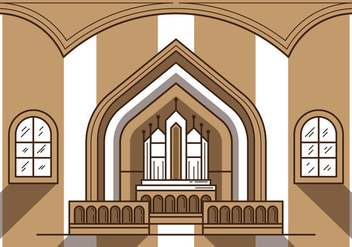 Free Church Altar Illustration - Free vector #301775