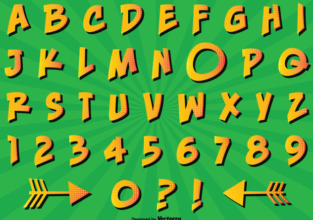 Comic Style Alphabet Set - vector #301835 gratis