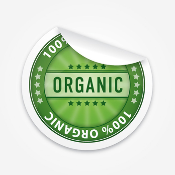 Sleek Organic Flipped Sticker - Free vector #301855