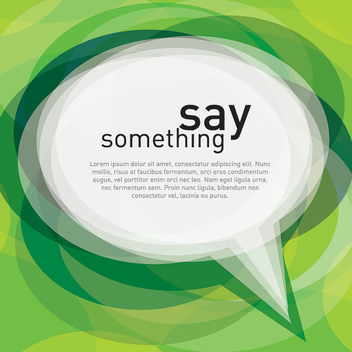 Speech Cloud Green Background - Free vector #301925