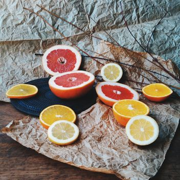 Orange and grapefruit slices - Kostenloses image #301945