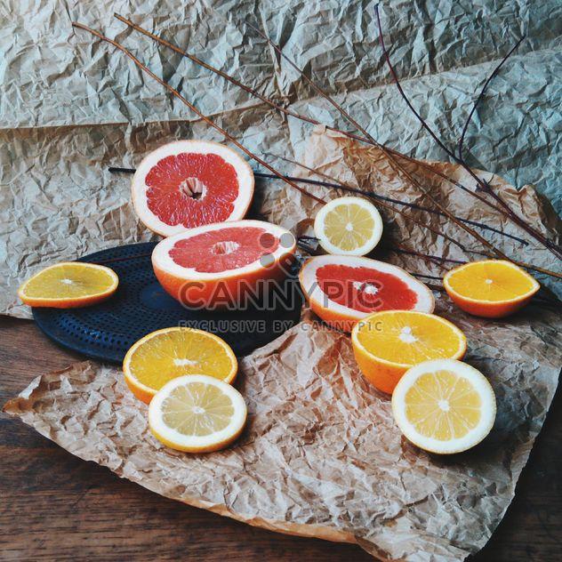 Ломтика апельсина и грейпфрута - бесплатный image #301945
