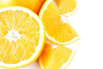 Orange slices on white background - бесплатный image #301965
