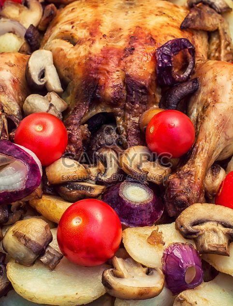 Poulet cuit au four - Free image #302105