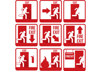Emergency Exit Vector - Free vector #302145
