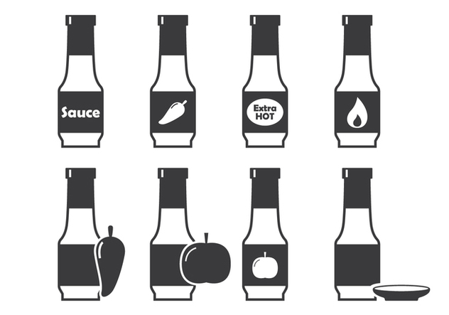 Bottle Sauce Icon - Free vector #302205