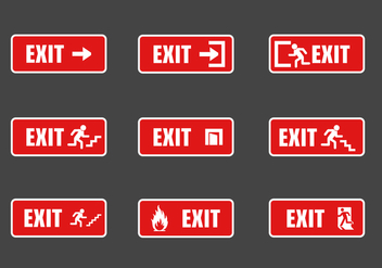 FREE EXIT SIGN VECTOR - Free vector #302435