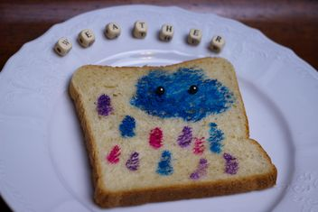 Painted Toast Bread - image gratuit #302535