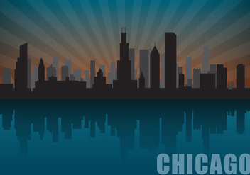 Chicago Skyline - vector gratuit #302625