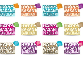 Happy Basant Festival Vectors - бесплатный vector #302685