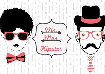 Hipster Face Vectors - Kostenloses vector #302695