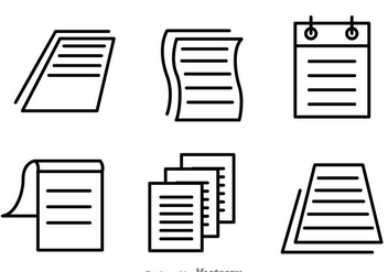 Paper Sheet Icon Vectors - Free vector #302705