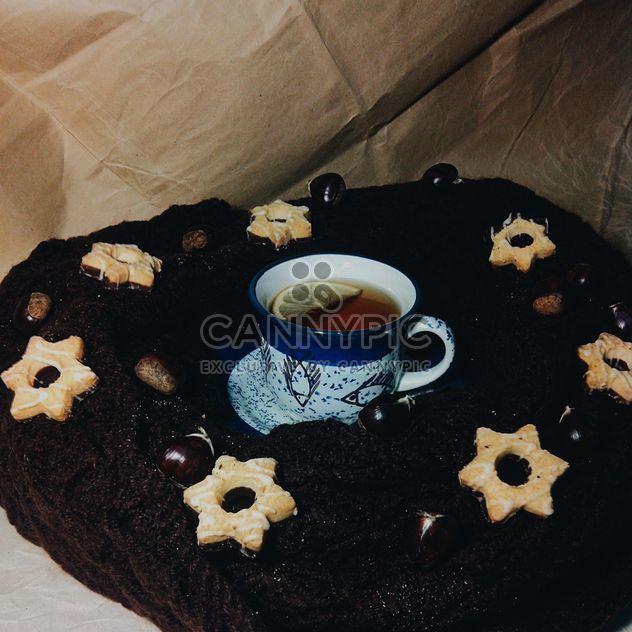 Черный чай и печенье - Free image #302885