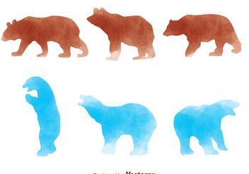 Brown Bear And Polar Bear - vector gratuit #302975