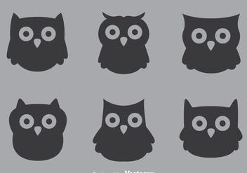 Gray Owl Vectors - Free vector #302995