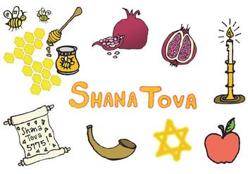 Free Shana Tova Vector Series - Kostenloses vector #303015