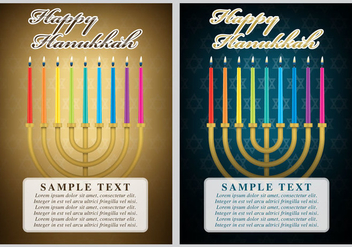 Hanukkah Cards - Free vector #303085