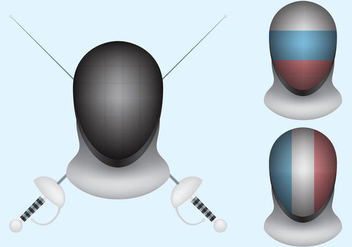 Fencing Mask Vectors - бесплатный vector #303095