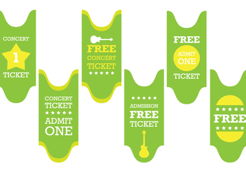 Green Concert Ticket Vector - Free vector #303105