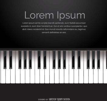 Piano keyboard vector with space for message - Free vector #303175