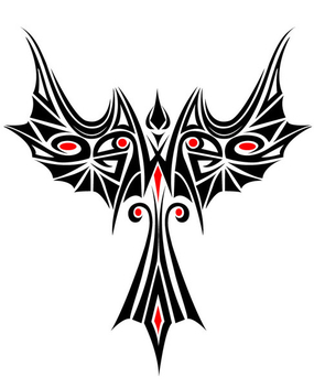 Beautiful Phoenix Tribal Tattoo - Free vector #303195