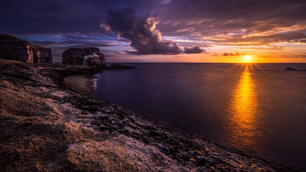 Fungus rock at sunset - Gozo, Malta - Landscape photography - Free image #303205