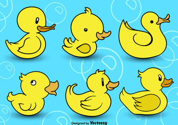 Rubber ducks - vector gratuit #303485