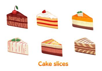 Cake slice vectors - Free vector #303495