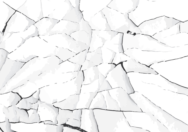 White cracked paint vector - vector gratuit #303505