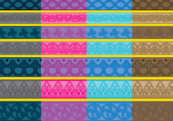 Vector Gothic Borders - Free vector #303645