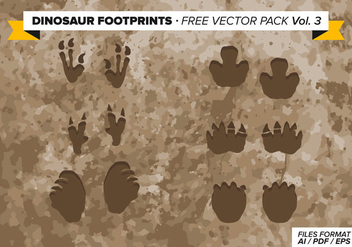Dinosaur Footprints Free Vector Pack Vol. 3 - Free vector #303815