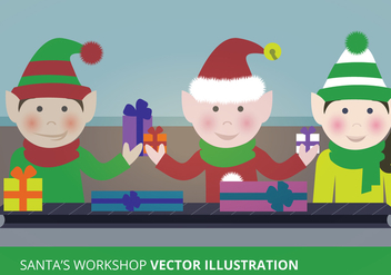 Santa's Workshop Vector - Free vector #303825