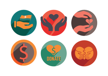 Donate Icon Vectors - бесплатный vector #303845